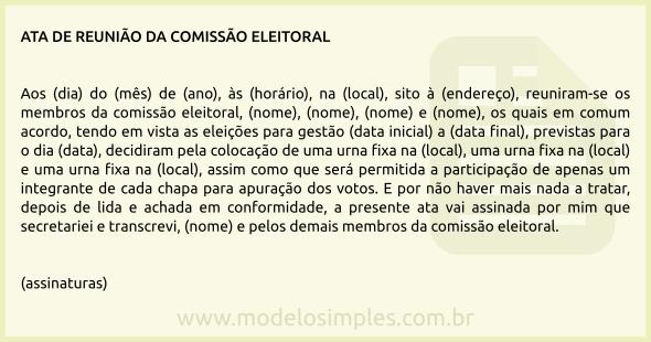 Modelo De Acta De Reunião Monografia November 2019