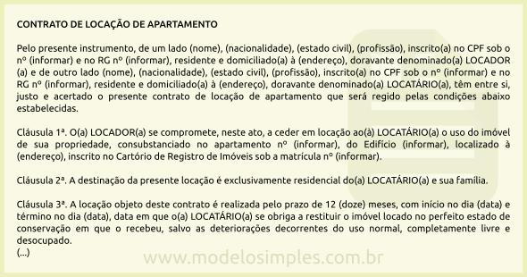 Modelo Contrato Imóvel Redação November 2019 Serviço