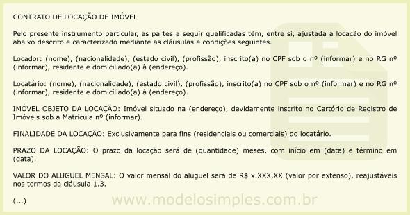 Modelo de Contrato de Locação de Imóvel com Fiança Bancária 1cd00b1c32