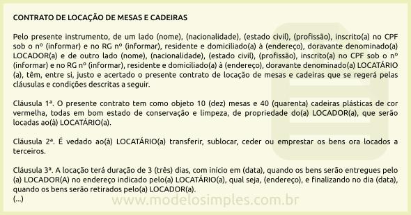 Modelo de Contrato de Locação de Mesas e Cadeiras a6685e79fd